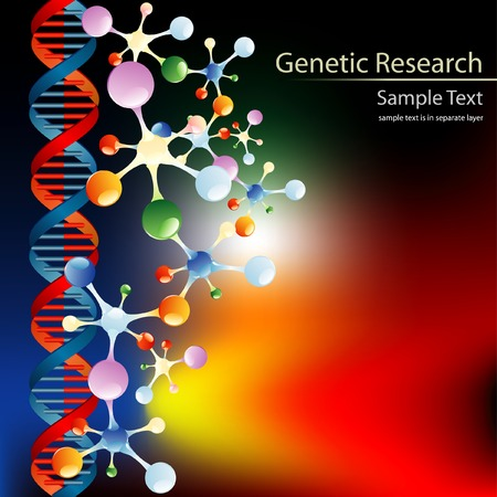 abstract vector layout for genetic research or something else Vector