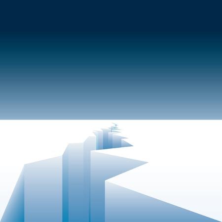 melting ice: Fondo para el calentamiento global con la fusi�n de hielo Vectores