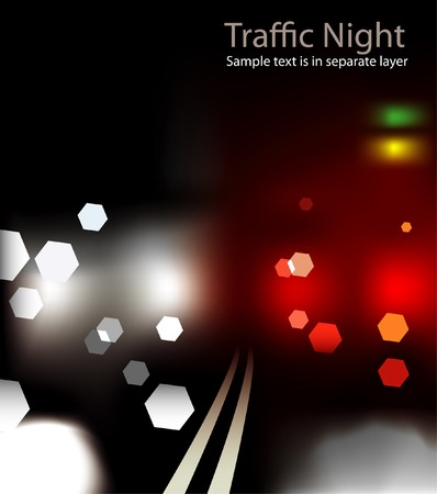 abstract background with street blur lights Vector