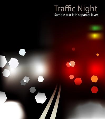 flyover: abstracte achtergrond met straat lichten vervagen  Stock Illustratie