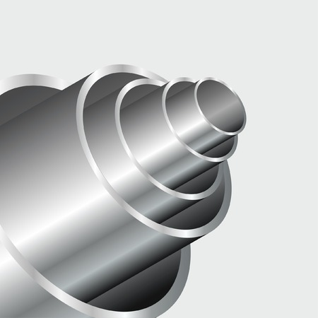 chrome cylinder: abstract industrial background with shiny tubes
