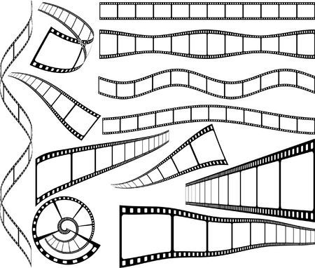 oldies: celluloid blank film strips Illustration