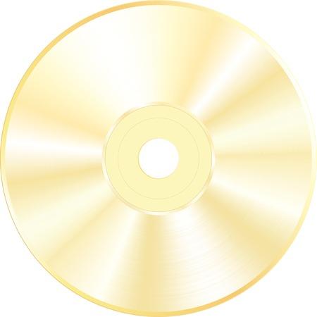 golden blank CD or DVD Stock Vector - 6483332