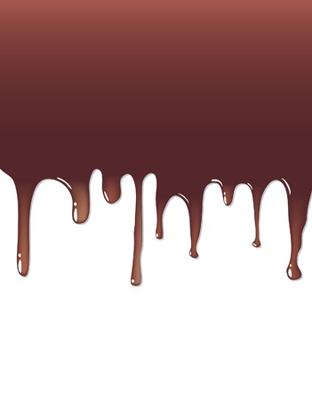 background with liquid chocolate Stock Vector - 6621876