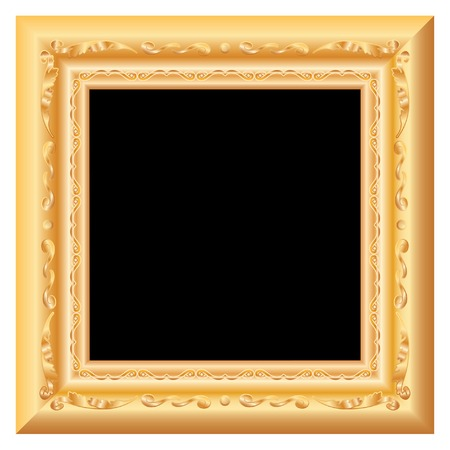 baroque golden blank frame Vector