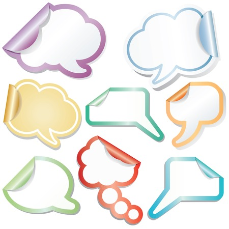 speech sticky clouds Stock Vector - 6650235