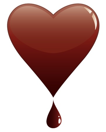 melting heart of chocolate Vector