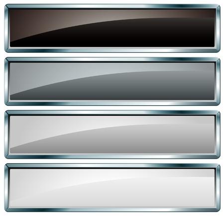zwart-wit knoppen Vector Illustratie