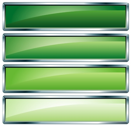 rectangle button:  buttons in green colors