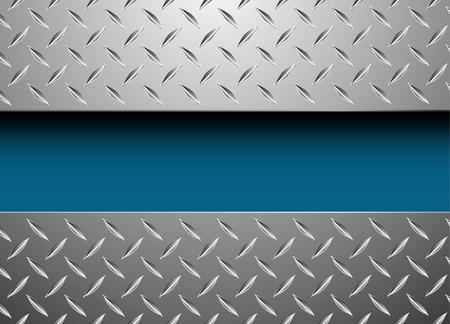 vector background with metal plate Ilustração