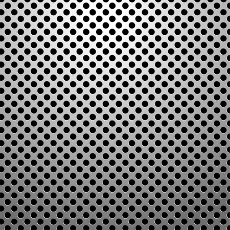realistic metal plate with holes Vector