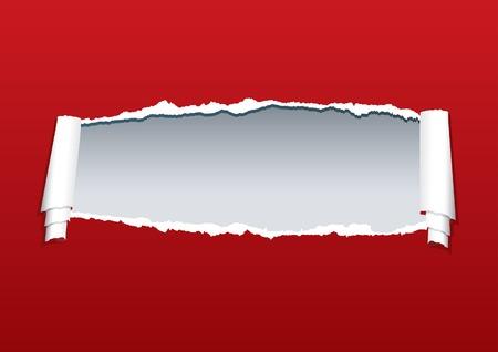 separato: strappato la carta con sfondo grigio nel livello separato