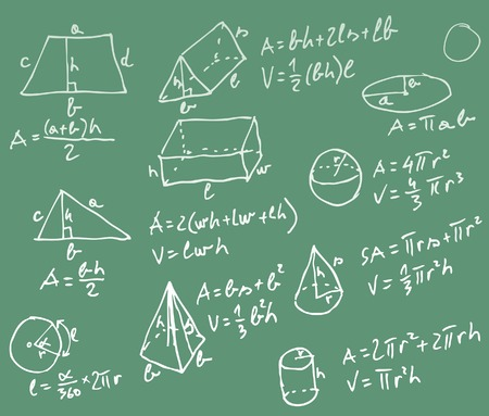 blackboard with mathematics formulas Vector