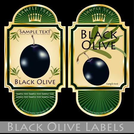labels for olive products Vector