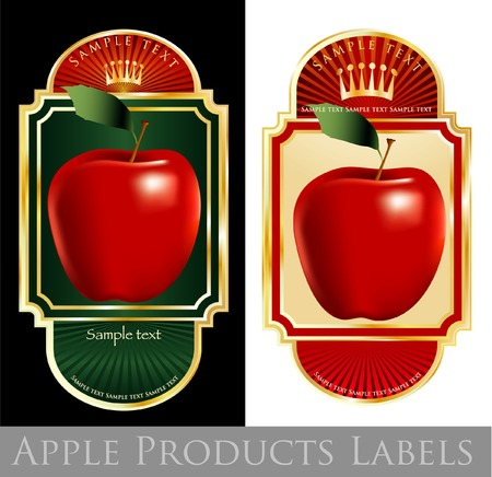 labels for apple products Vector