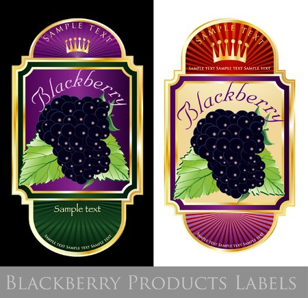 labels for blackberry products Vector