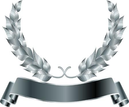 laurel leaf:  Corona de plata