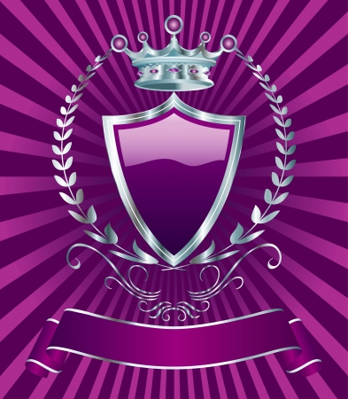 violet label for various products Vector