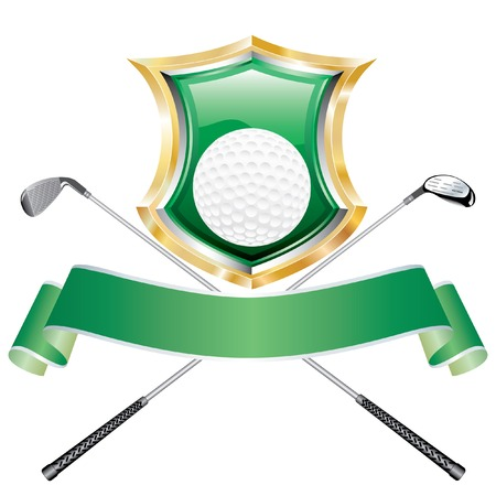 blank golf award with shield Stock Vector - 6904952