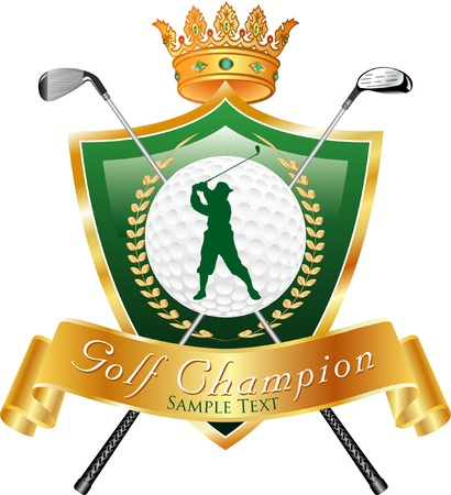golf award with sample text in separate layer Vector