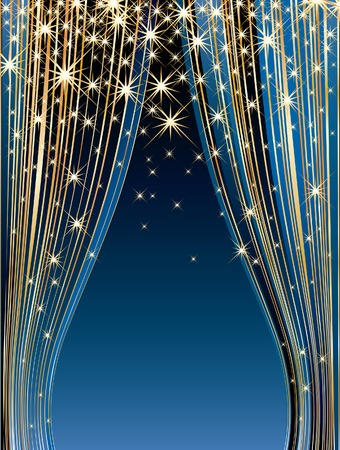 confetti background: vestor stars on blue stage