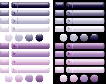 quadrant:  long web violet buttons Illustration