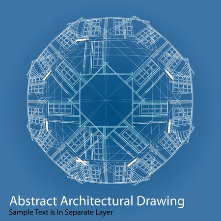 abstract architectural drawing with sample text in separate layer Stock Vector - 6979895