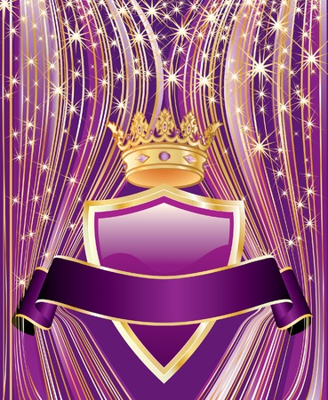 royal:  success background in purple colors