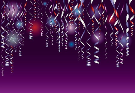 gold string:  purple party background