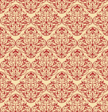 seamless repeating baroque wallpaper Vector