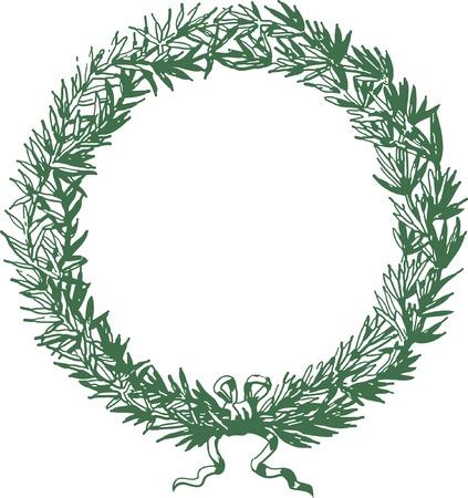 vectorized hand drawn wreath Vector