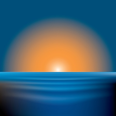 illustration of the sunset on sea Vector