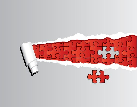 difference:  thorn paper with red puzzle
