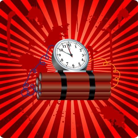 nitroglycerin: illustration with time bomb Illustration