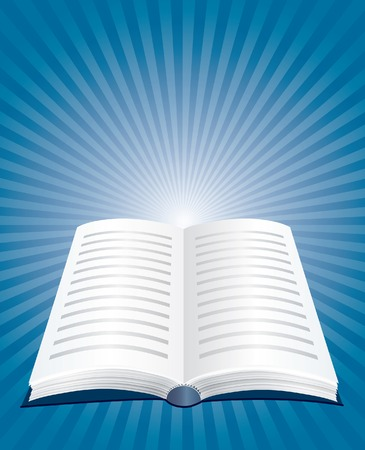 poezie:  illustratie van de geopende boek Stock Illustratie