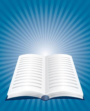 bible ouverte: illustration du livre ouvert  Illustration