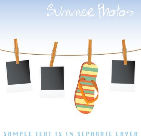 adjuntar: fotos y sandalia en cuerda  Vectores