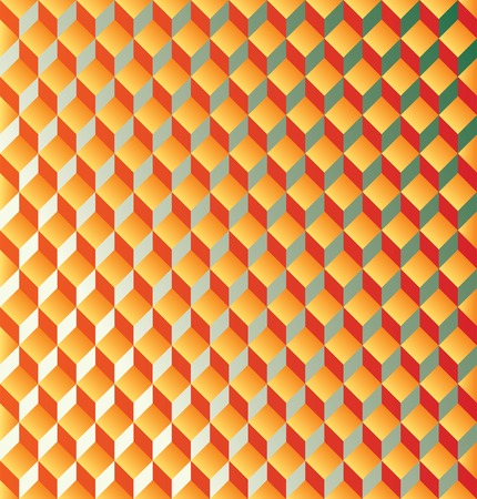 quadrant:  abstract background with orange cubes