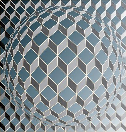 cuboid:  globe of cubes Illustration