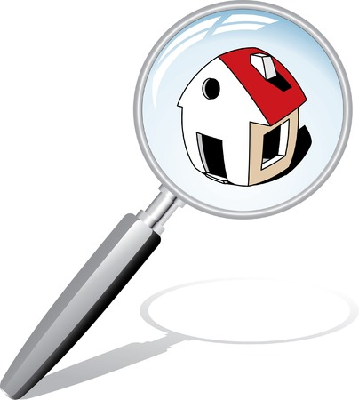 icono de búsqueda de casa  Ilustración de vector