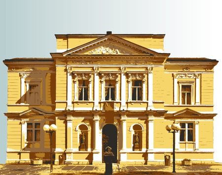 facade of the baroque villa Stock Vector - 7338619
