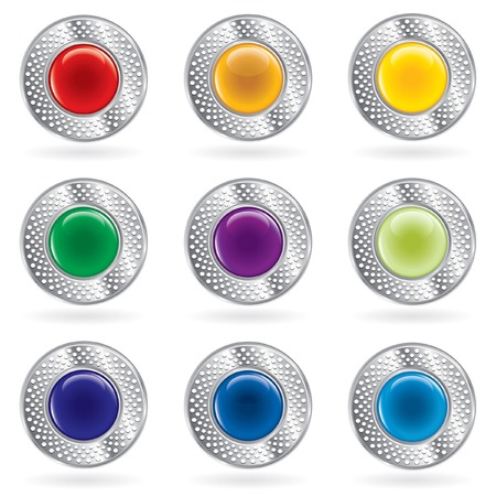 buttons for web, computing etc. Stock Vector - 7350404