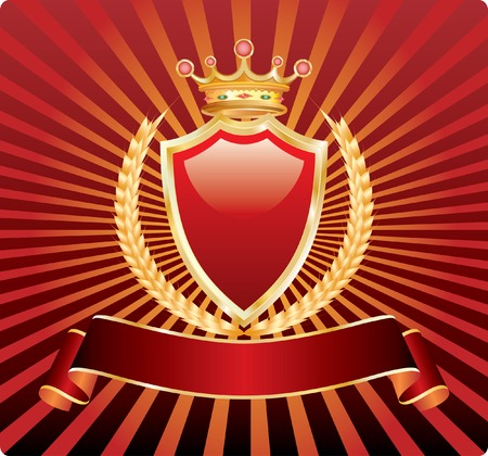 blank label with wheat and crown Vector
