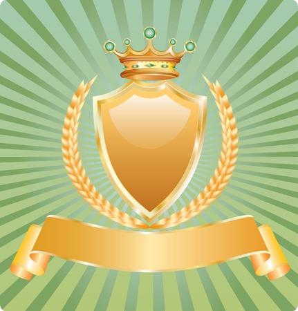 gagnants: �tiquette vide avec bl� et de la Couronne