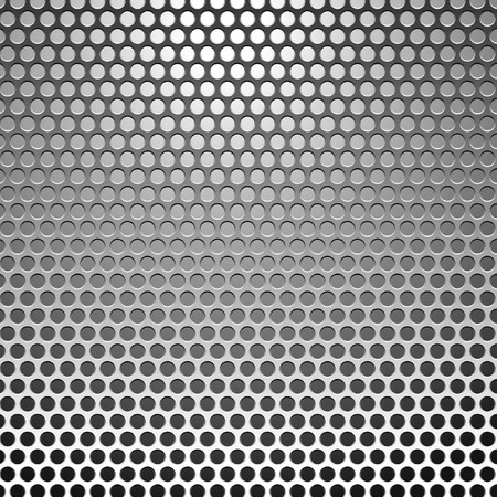 perforation texture: vector metal background in three layers, fully editable Illustration