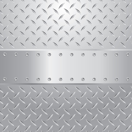 shiny metal:   illustration of the metal plate with blank space for text Illustration