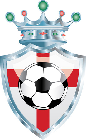illustration of the soccer ball on england flag Vector