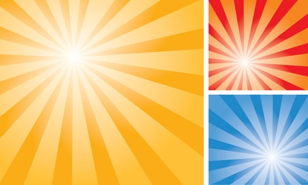 sunbeams:   backgrounds with abstract sun burst