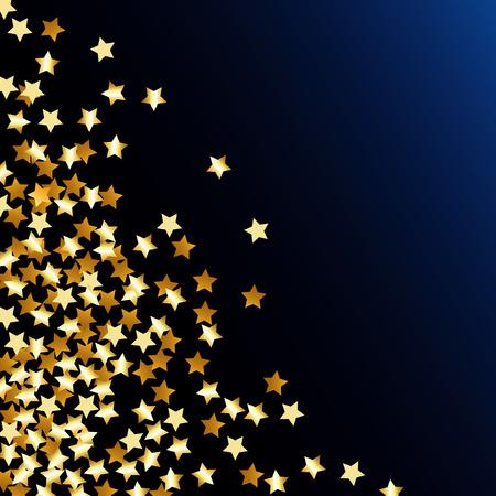 falling star:   abstract illustration with golden confetti stars Illustration