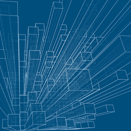 property development:  background with blueprint of abstract city